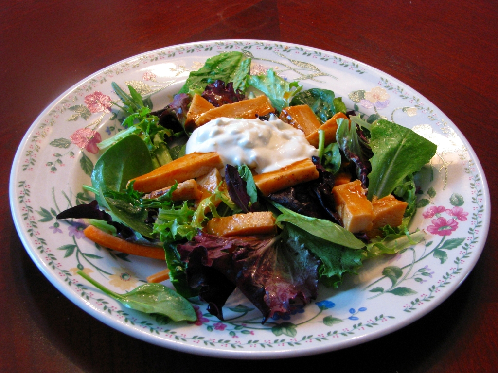 Buffalo Chicken Salad with Homemade Bleu Cheese Dressing - Rants From ...