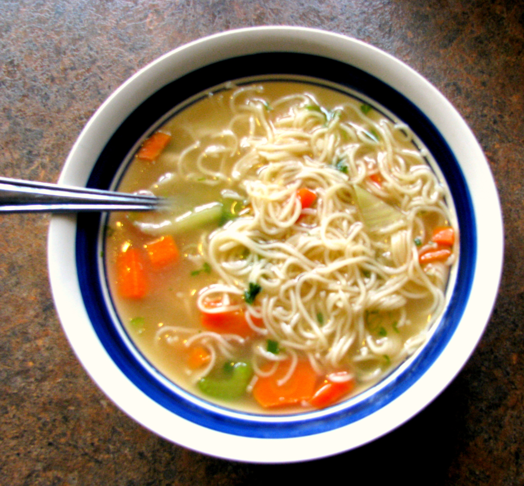 , easy and HOMEMADE Ramen Noodle Soup! Less sodium and more healthy ...