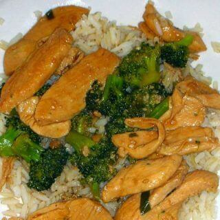 Chinese Chicken Stir Fry with Broccoli - A healthy dinner recipe made with chicken breast, fresh broccoli, and low sodium soy sauce