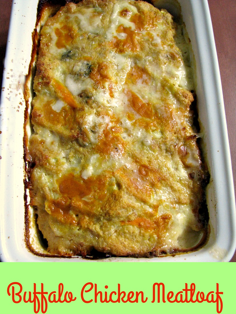 This Buffalo Chicken Meatloaf is made with crumbled blue cheese and your favorite wing sauce. It makes a great change from traditional meatloaf.