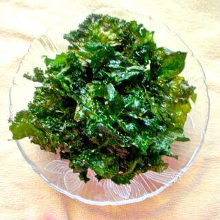 Crispy Kale Chips - Get the recipe at Rants From A Crazy Kitchen