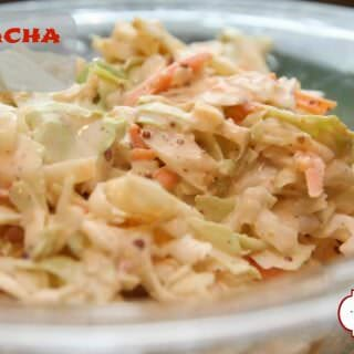 Sriracha Slaw- A great, spicy twist on traditional coleslaw!