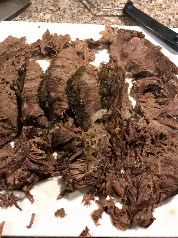 Photo of sliced French onion roast beef