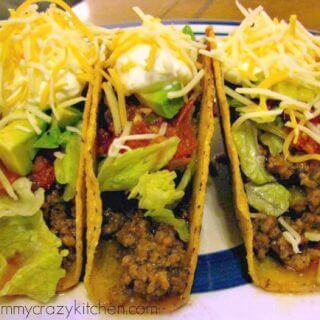 Ground Beef Tacos with Homemade Taco Seasoning