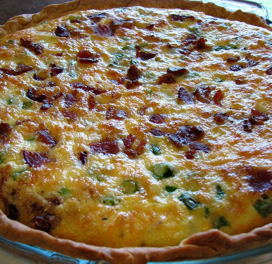 Asparagus and Bacon Quiche - Rants From My Crazy Kitchen