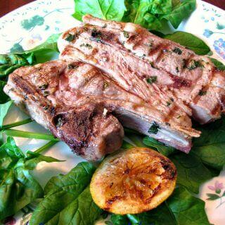 Garlic Basil Lamb Chops