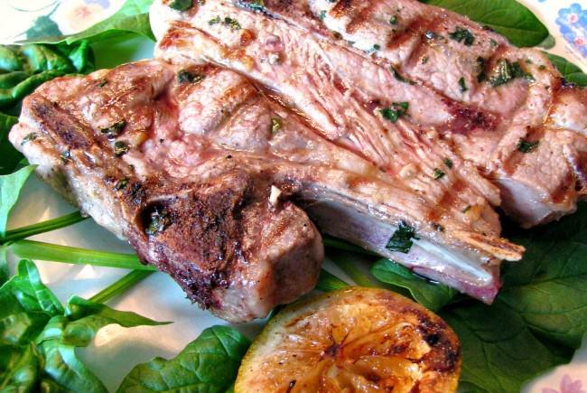 Garlic-Basil-Lamb-Chops