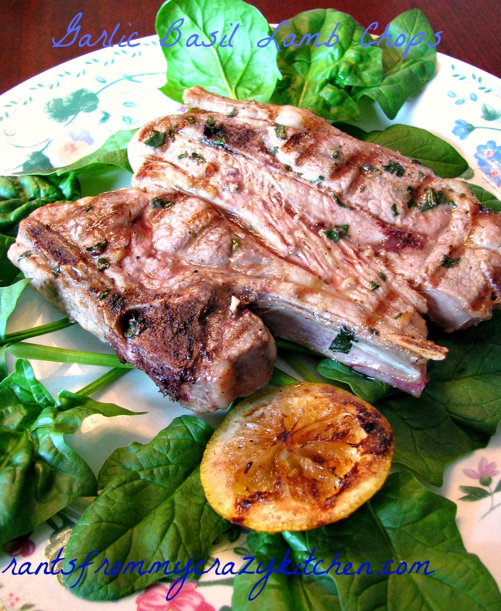 Garlic Basil Lamb Chops