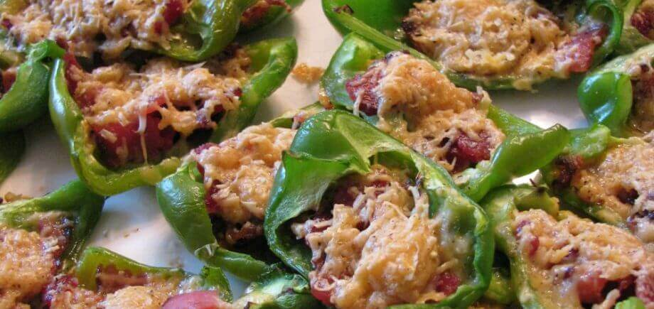 Bacon Gouda Stuffed Bell Peppers