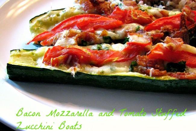 Bacon-Mozzarella-and-Tomato-Stuffed-Zucchini-Boats