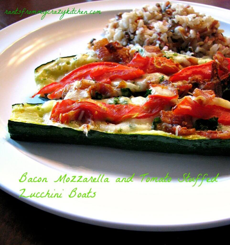 Bacon-Mozzarella-and-Tomato-Stuffed-Zucchini-Boats