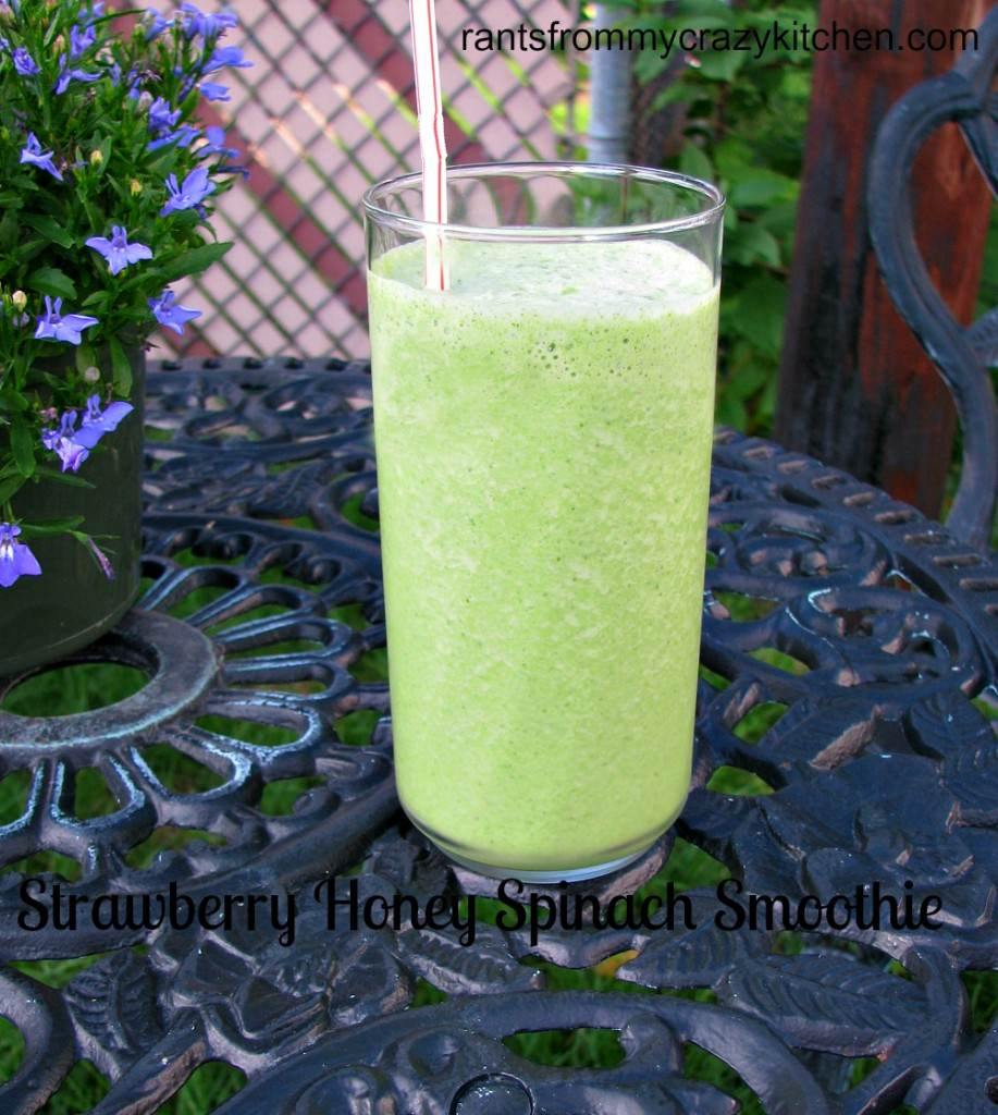 Strawberry Honey Spinach Smoothie