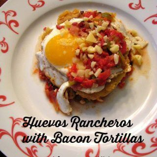 Huevos Rancheros with Bacon Tortillas
