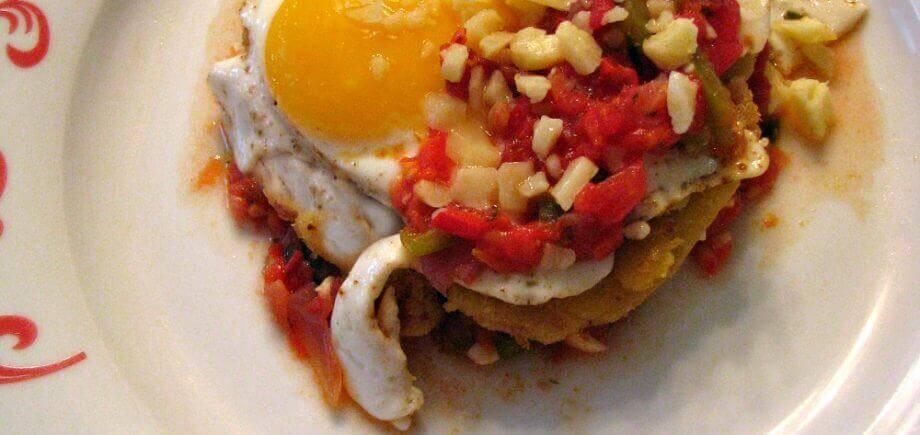 Huevos Rancheros with Bacon Tortillas
