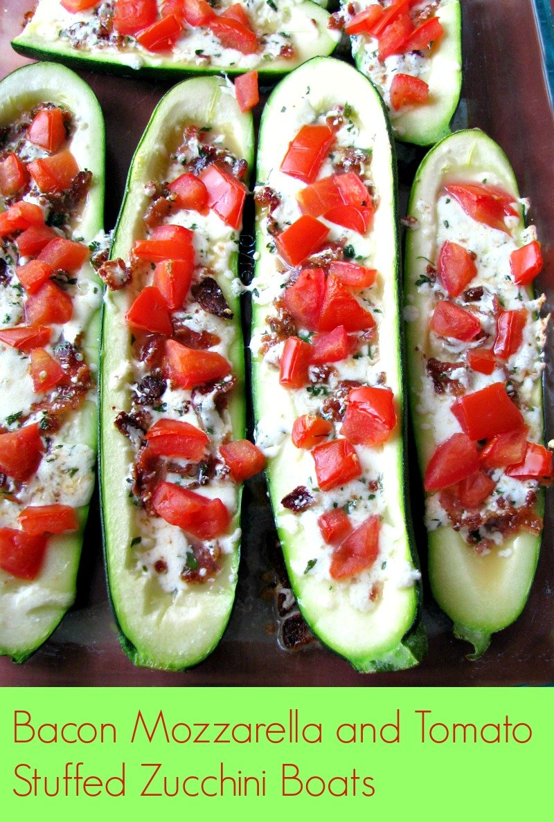 Use up the abundance of summer zucchini with these outstanding Bacon Mozzarella and Tomato Stuffed Zucchini Boats that are ready to eat in 30 minutes.