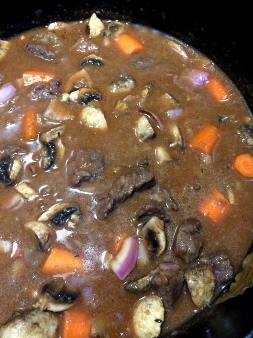 Photo of Beef Mushroom Stew with mushrooms and garlic added