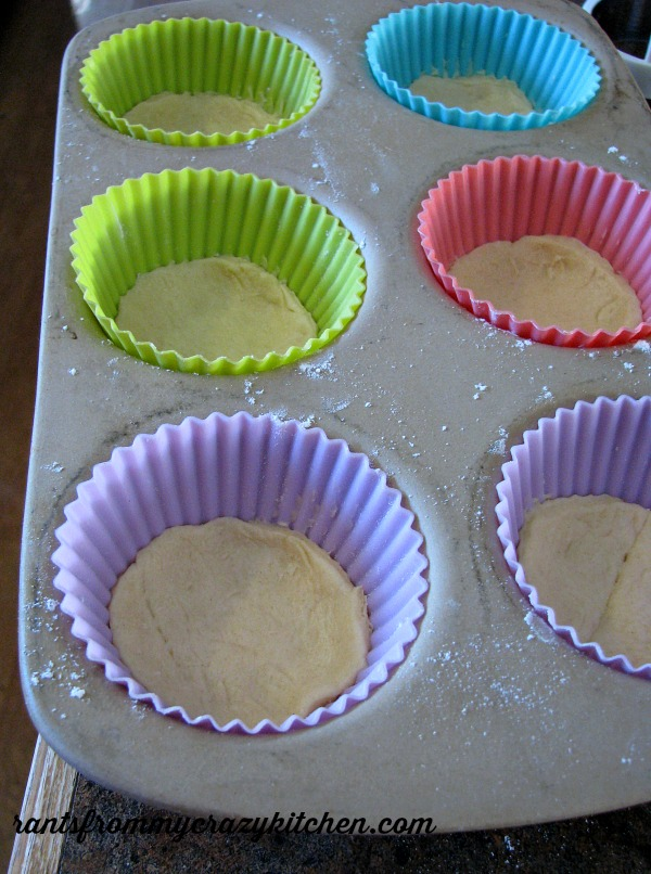 Crescent Roll Dough in Cups