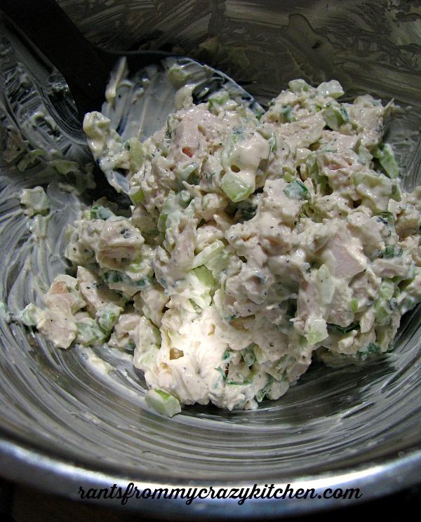 Mixing Turkey Salad