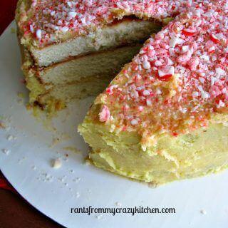 White Christmas Peppermint Cake