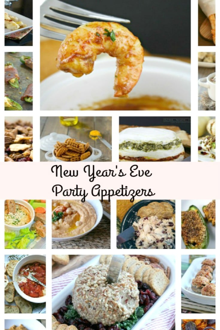 Collage photo of New Year's Eve party appetizers