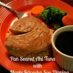 Plated Pan Seared Ahi Tuna