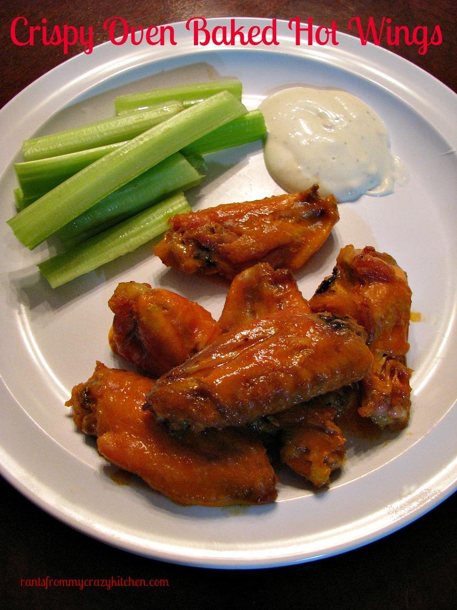 Crispy Oven Baked Hot Wings