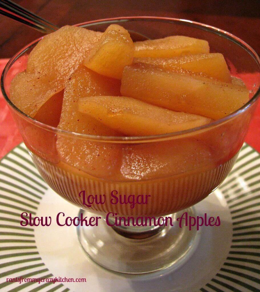 Low Sugar Slow Cooker Cinnamon Apples