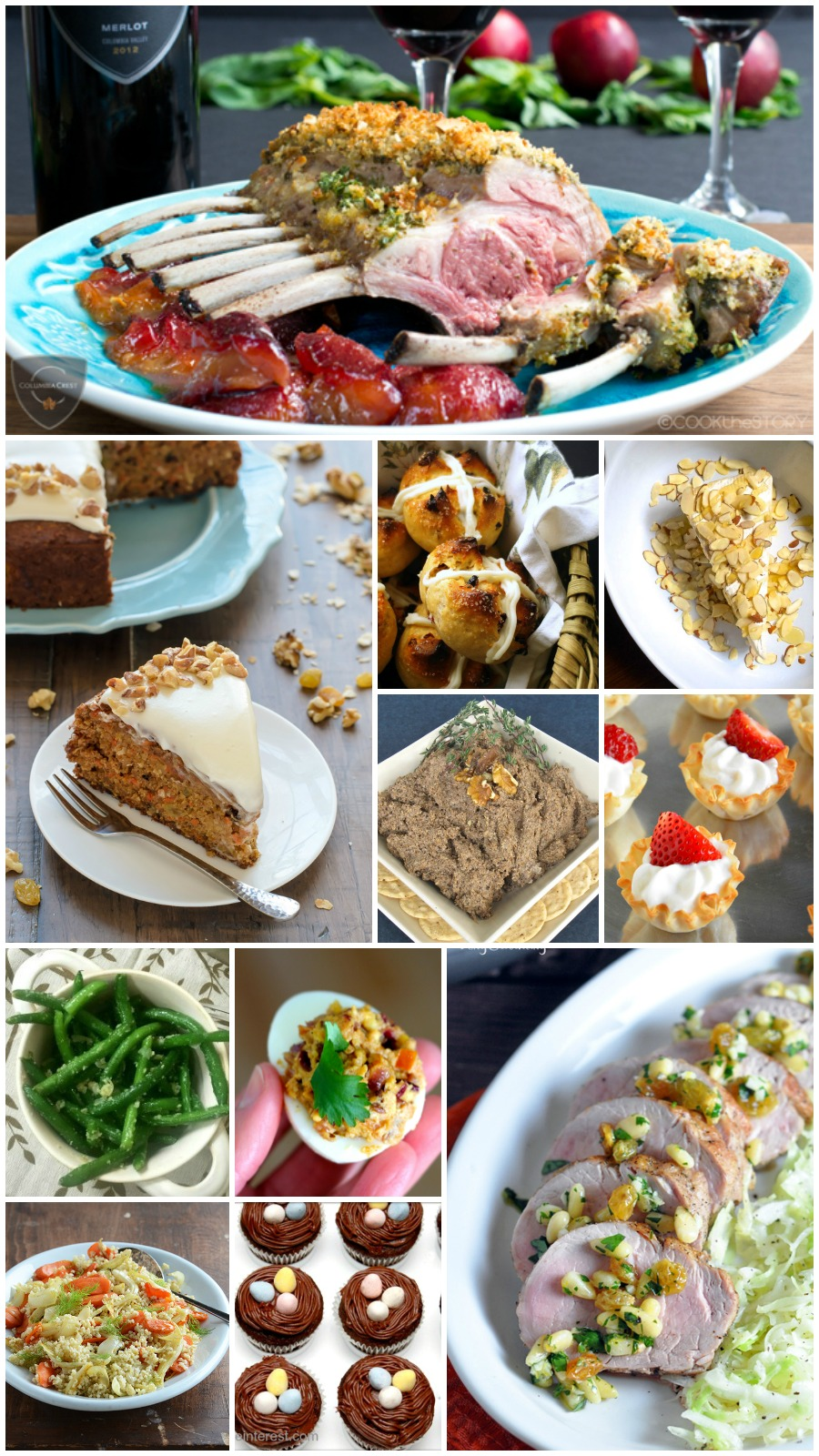 35 Easy Easter Recipes- This collection has it all,  Easter appetizers, entrees, sides, and desserts. Everything you need to plan your Easter dinner!