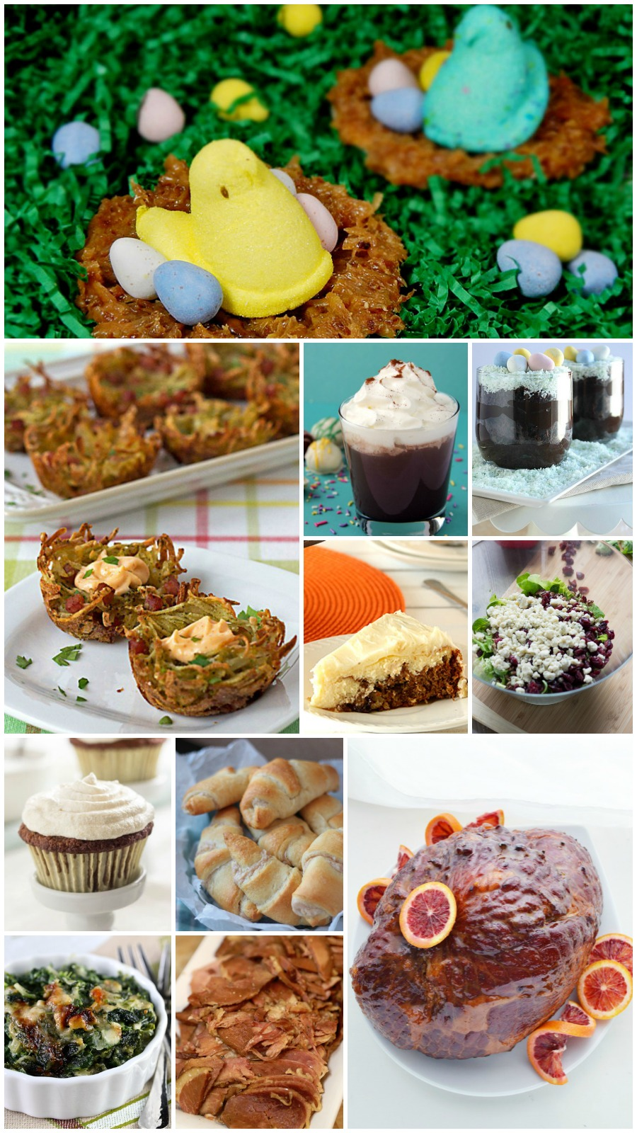 35+ Easter Dinner Recipes- A great collection full of dinner ideas from appetizers to desserts!
