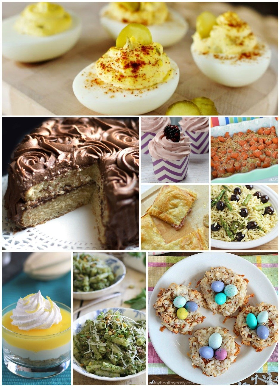 Easy Easter Recipes- Enjoy this wonderful collection of easy Easter recipes to help you plan your Easter Dinner. This collection contains everything from appetizers to desserts and will be a go-to reference for all!