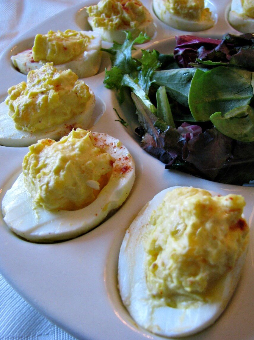 Creamy Horseradish Deviled Eggs. Simple, delicious deviled eggs with ...