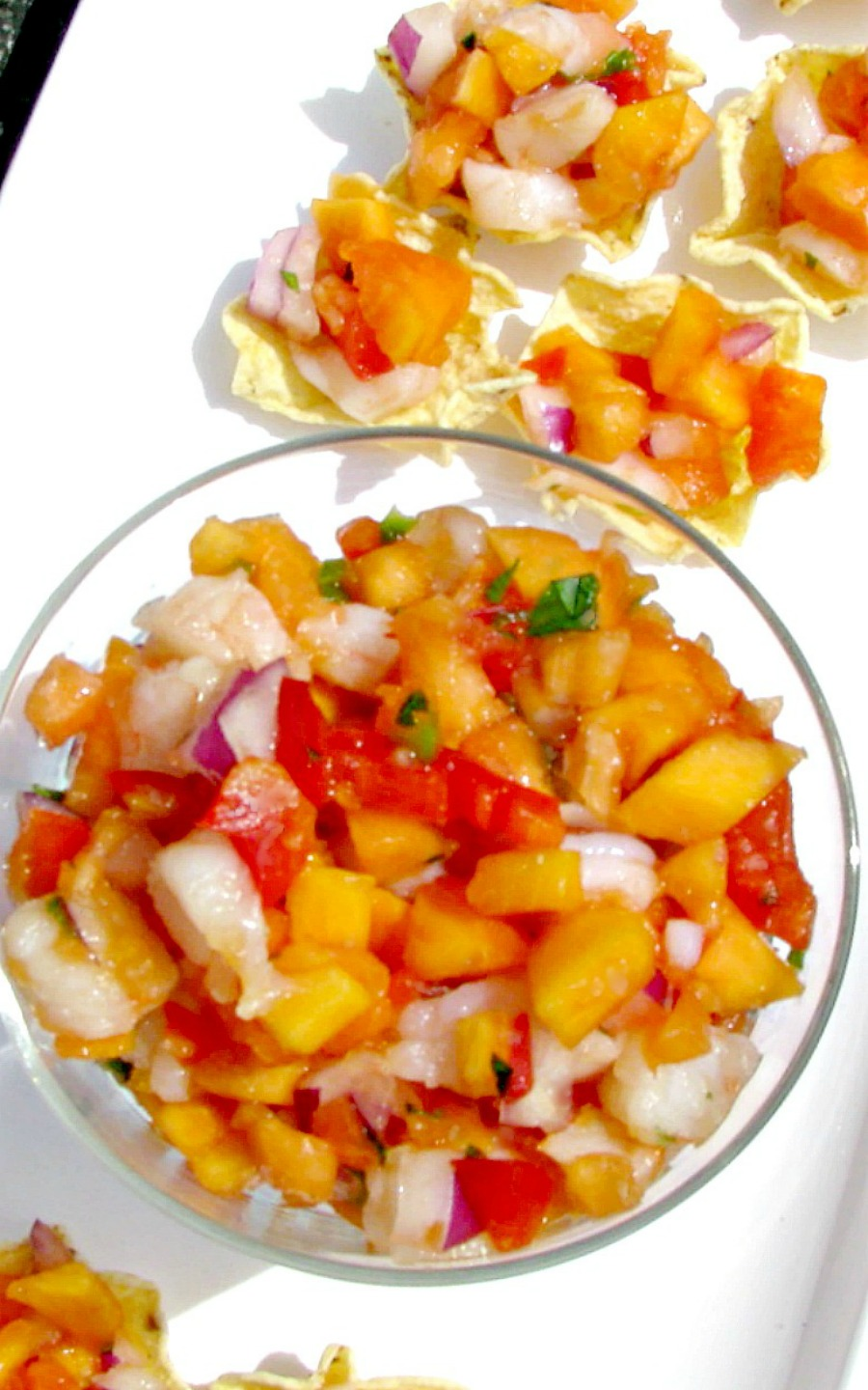 Shrimp and Papaya Salsa- Sweet papaya, chopped shrimp, onions, and jalapeno give you all the great tastes of summer. This recipe feeds a crowd, great for summertime cookouts!