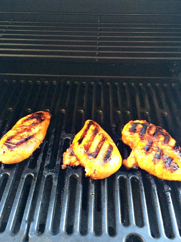 Grilled Sriracha Chicken- Sweet and spicy marinated grilled chicken breasts.