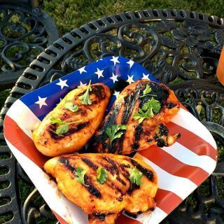 Maple Honey Sriracha Grilled Chicken- Sweet and spicy marinated grilled chicken great for summer cookouts!
