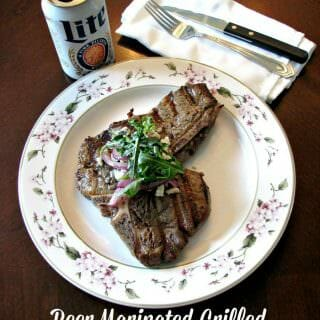 Msg 4 21+ Tender, juicy steak marinated in Blue Moon White IPA, garlic, and sriracha, then grilled to a perfect medium!