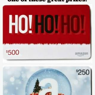 Christmas Week 2015 Amazon Gift Card Giveaway.