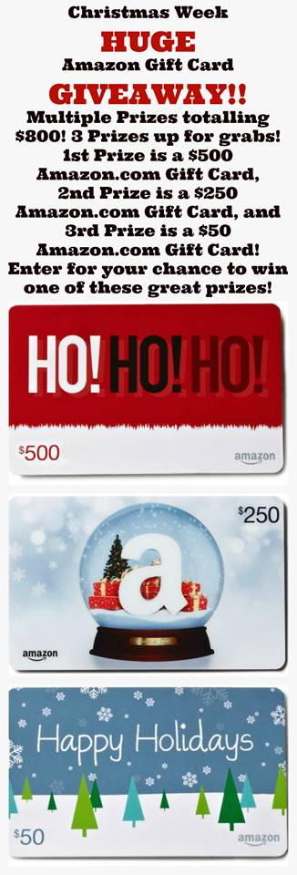 Christmas Week 2015 Amazon Gift Card Giveaway.