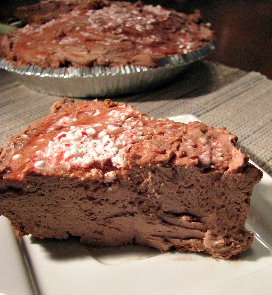 No-Bake Chocolate Peppermint Cheesecake