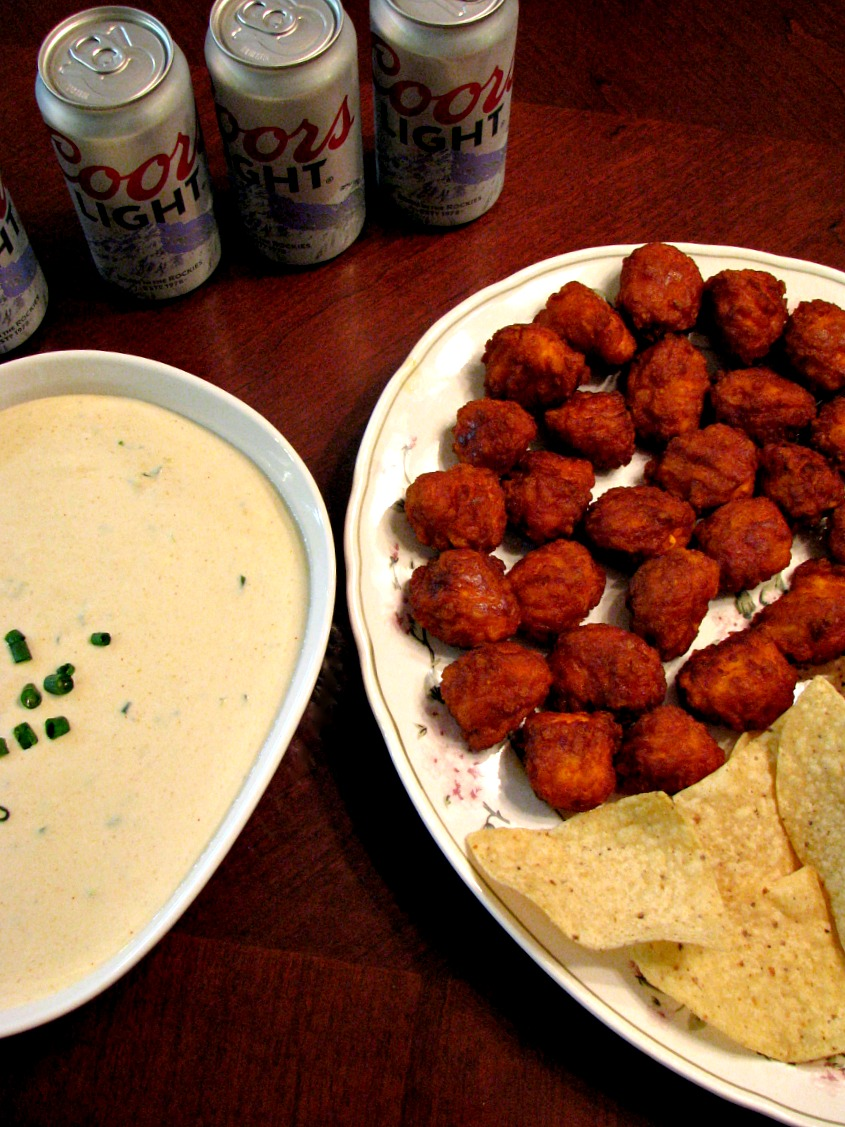 Slow Cooker Beer Blue Cheese Dip with Tyson Anytizers and Tostitos Tortilla Chips