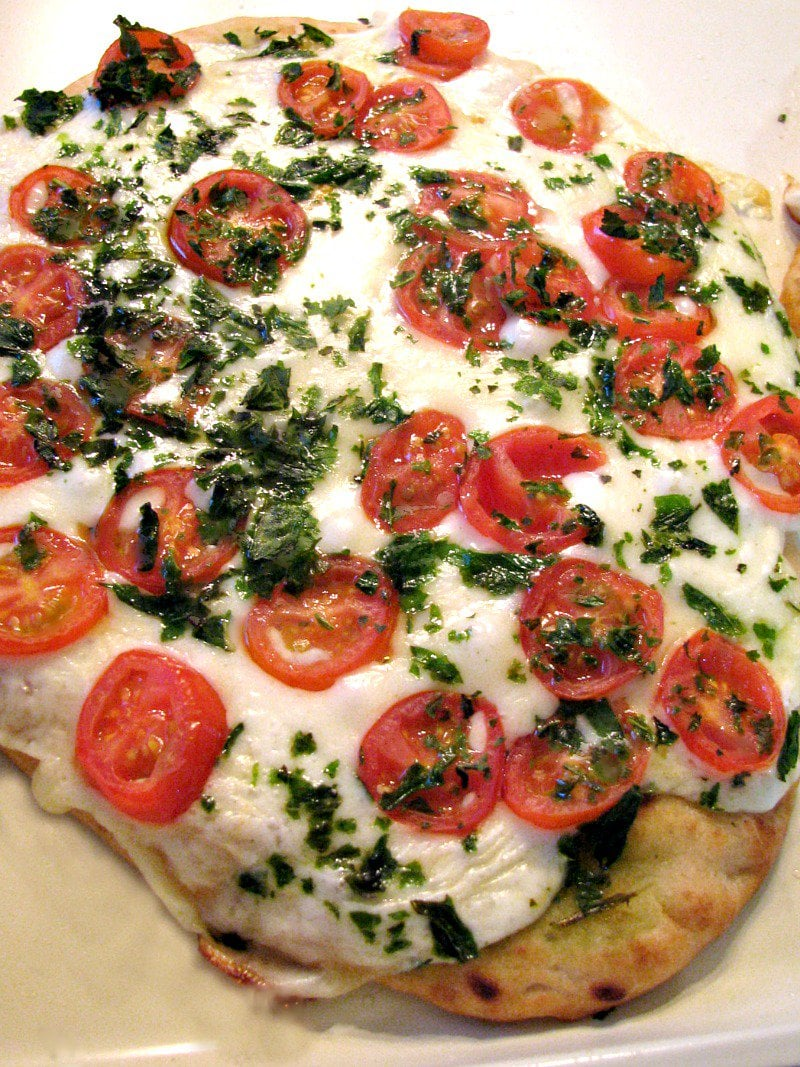 Margherita Naan Pizza Rants From My Crazy Kitchen