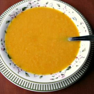 Roasted Parsnip, Carrot and Garlic Soup