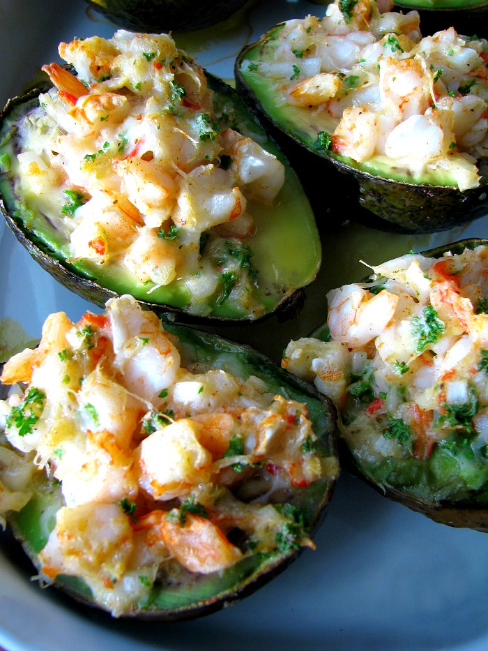 Baked-Seafood-Stuffed-Avocados