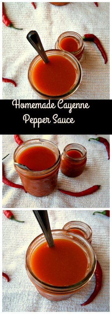 Hot and spicy Homemade Cayenne Pepper Sauce, more flavorful than store-bought and so easy to make!