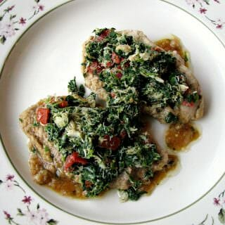 Veal and Crab Florentine