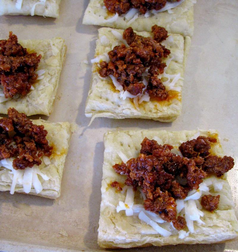 Chorizo Topped Puff Pastry