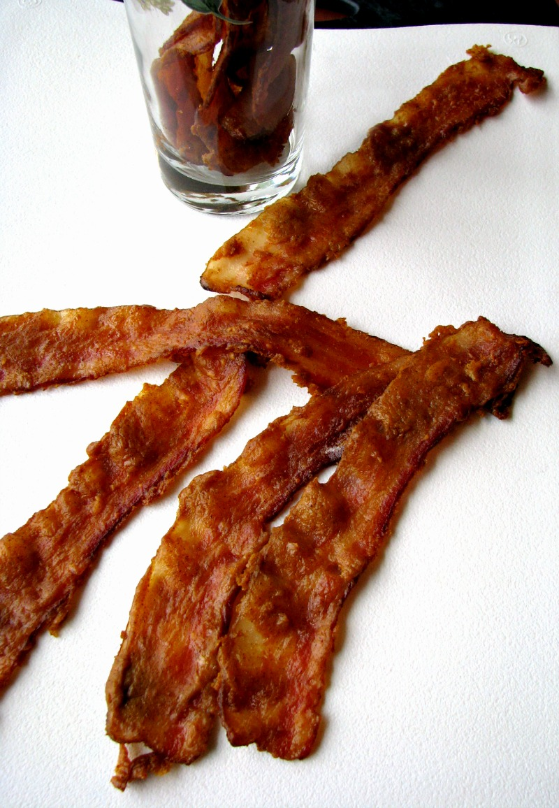 This seasonal Pumpkin Glazed Bacon is fabulous in a variety of dishes, or on it's own, and you only need 4 ingredients!