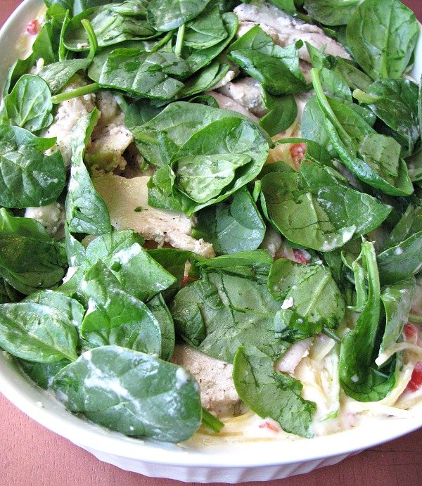 pasta-romana-topped-chicken-and-spinach