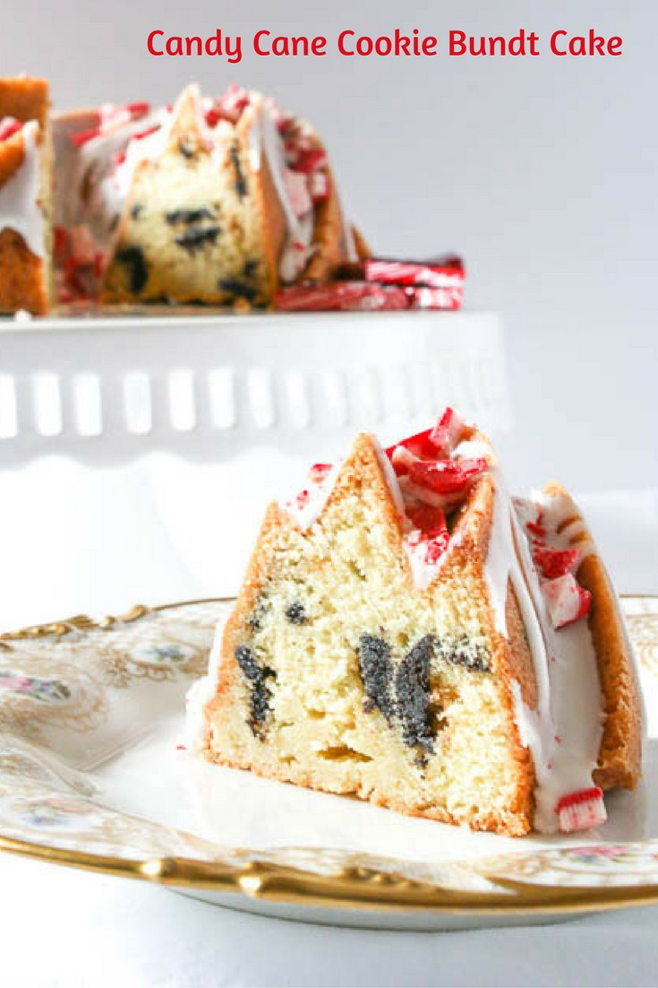 Candy Cane Cookie Bundt Cake- Desserts Required