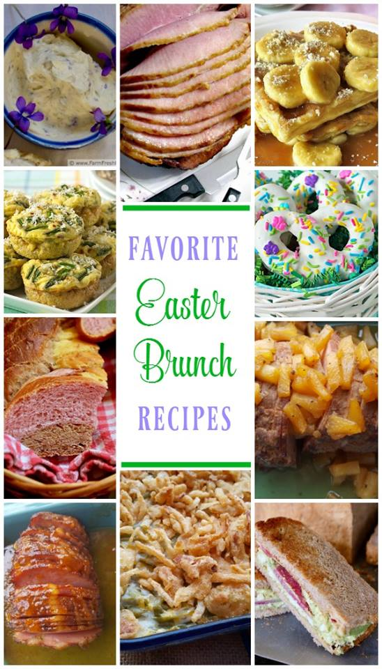 Favorite Easter Brunch Recipes- A collection of the best recipes for Easter Brunch or dinner, including appetizers, Easter dinner entrees, and desserts.