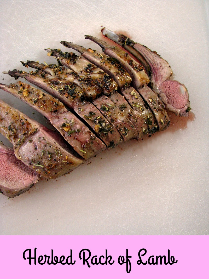 Classic Herbed Rack of Lamb, marinated in olive oil, garlic, and fresh herbs, makes a simply elegant main course for Easter.